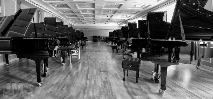 Long Rows of Pianos